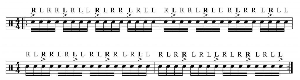 Accented Paradiddles - Drum Lessons Singapore