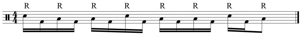 Right hand and Bass Drum part from fill of the week 5.