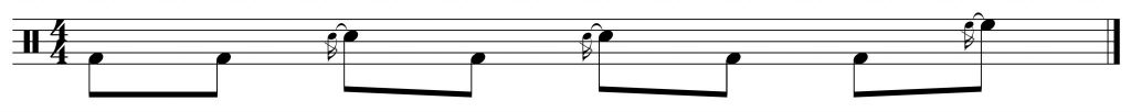 Fill of the week #4 displaced by 4 8th notes to the right.
