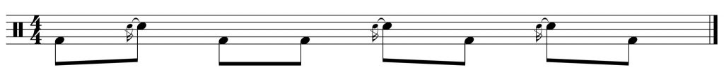 Fill of the week #4 displaced by 6 8th notes to the right.