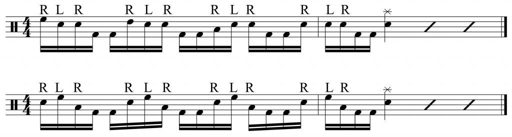 orchestrations of the RLRKK pattern