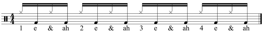 alternating hi-hat & bass