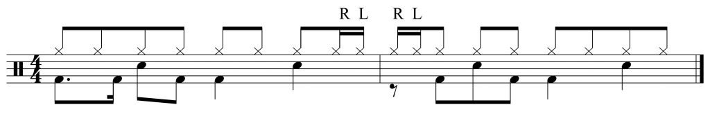 Add in the 16th note hi-hats
