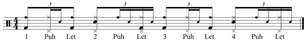 full groove with alternative bell pattern