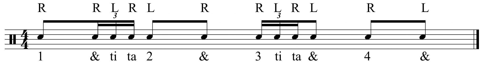 basic fill rhythm