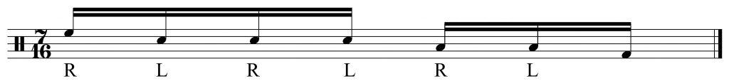 basic 7 note pattern.