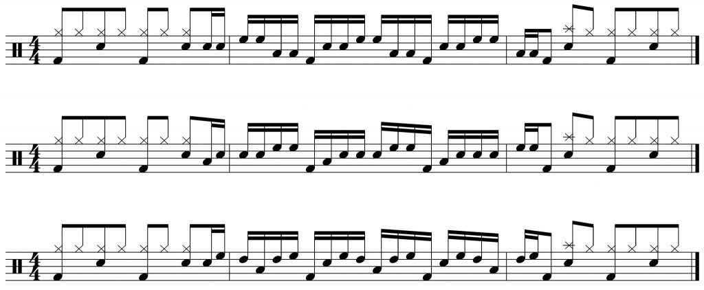 simple variations on the drum fill