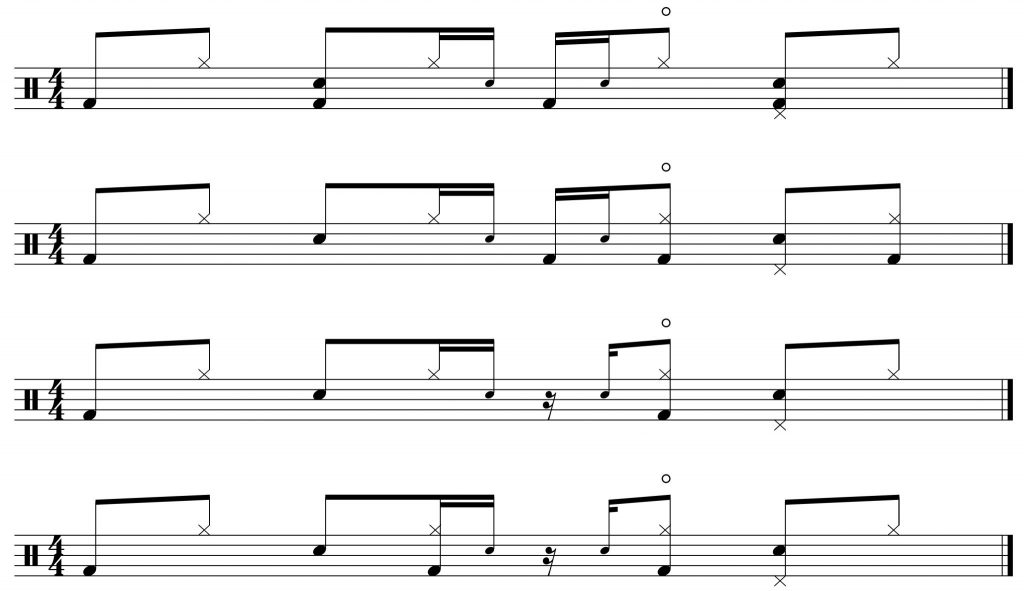bass drum variations