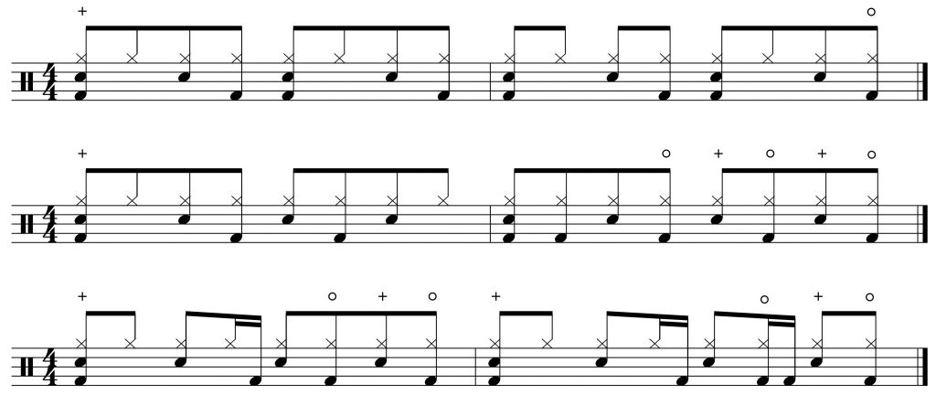 3 variations on the groove