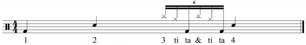 exercise to get used to the 16th note triplets.