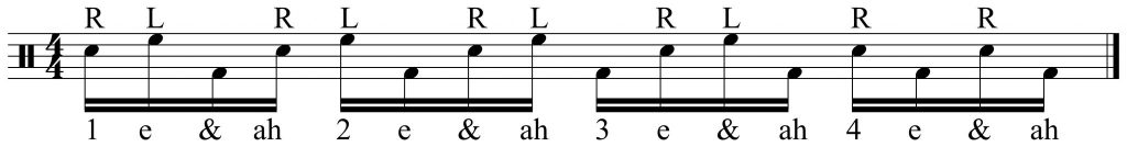 16th note starting point