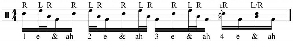 variation with 16th notes