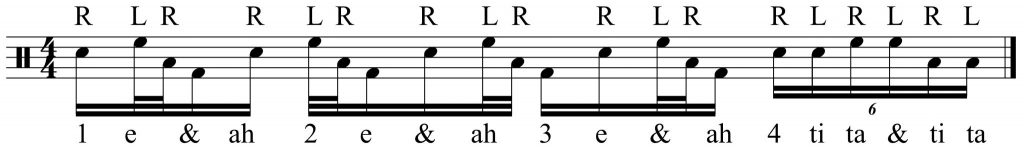 a dramatic 16th note triplet ending