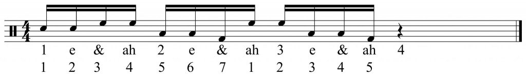 7 + 5 note grouping