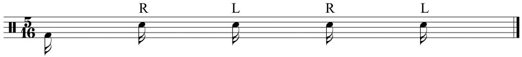 basic five note grouping