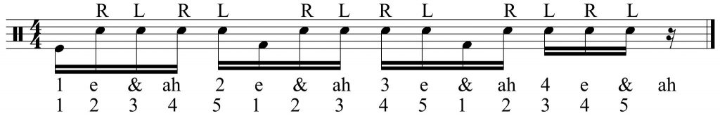 Three five note groupings