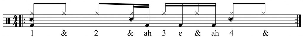 The first half of the groove