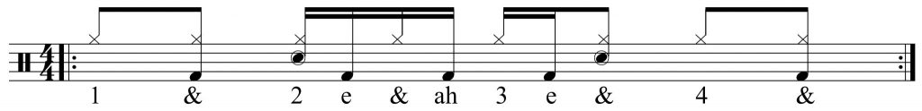 The second half of the groove