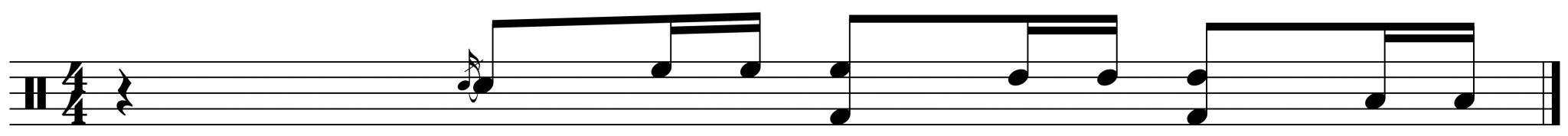 adding the bass drum