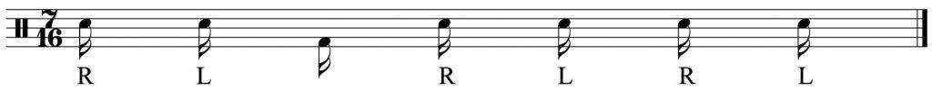 the basic 7 note group RLKRLRL