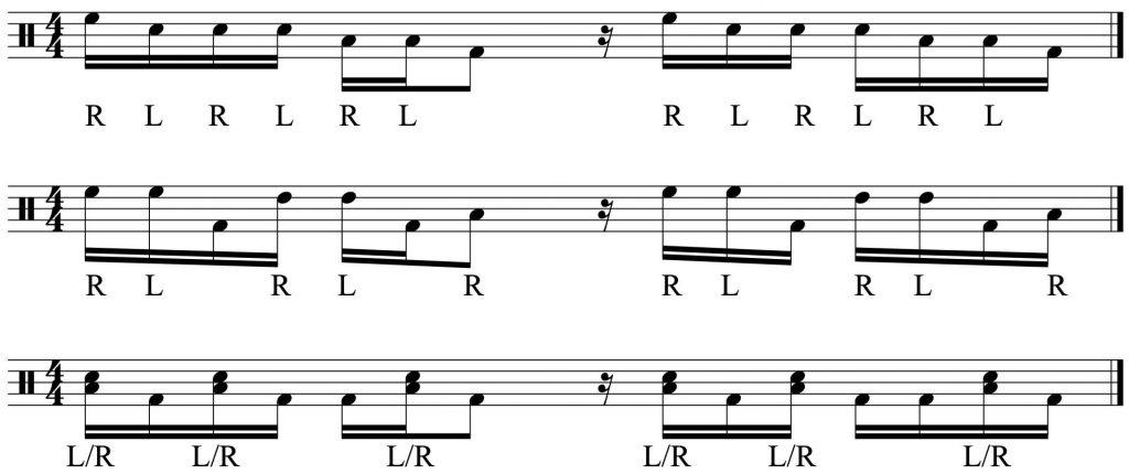 3 variations