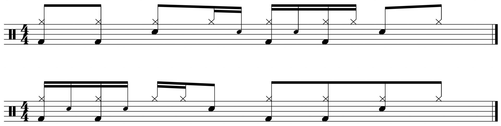 double paradiddle variations