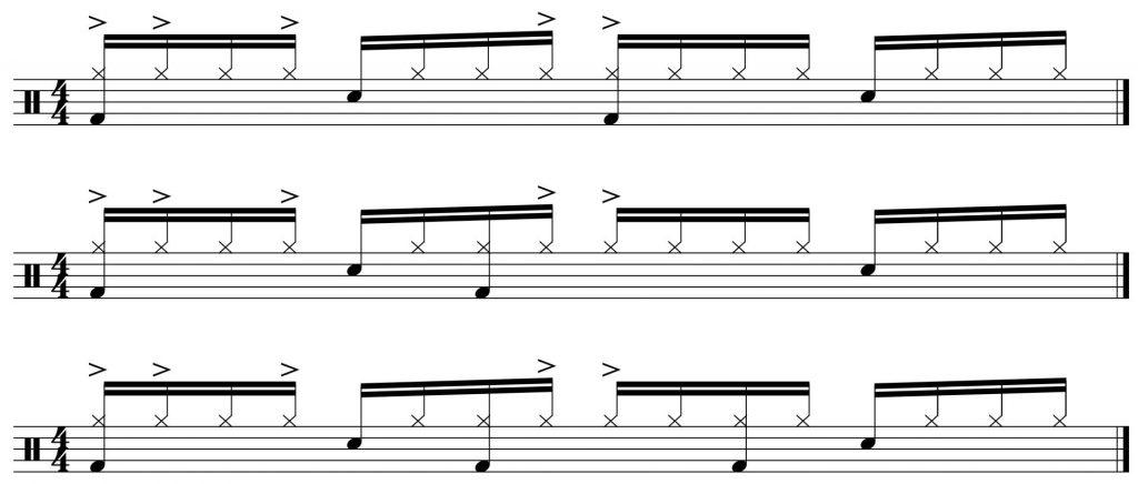 additional bass drum patterns