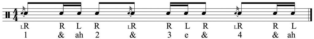the basic rhythm flammed