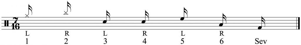 The 7 note grouping.
