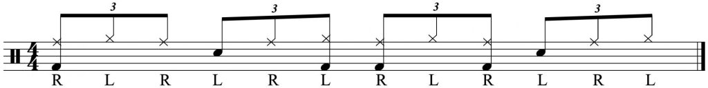 Adding the bass drum pattern.