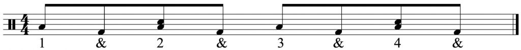 8th note version of the groove