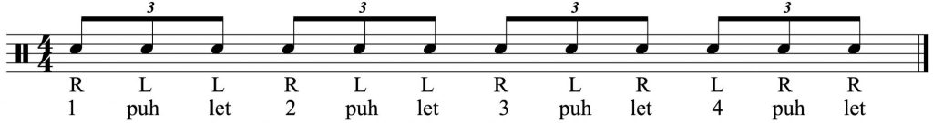 The basic 8th note triplet pattern