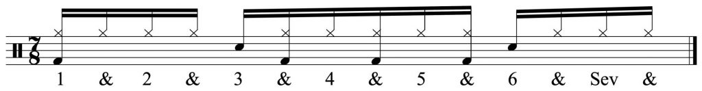 basic groove + 16th note hi-hats