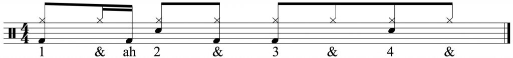 Basic 8th note hi-hat groove