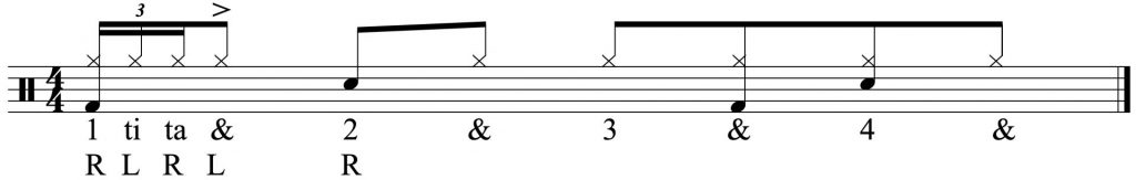 Adding the 16th note triplet