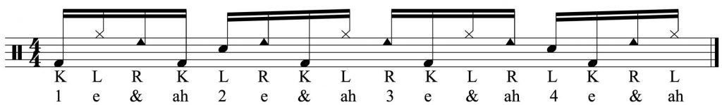 The last three notes
