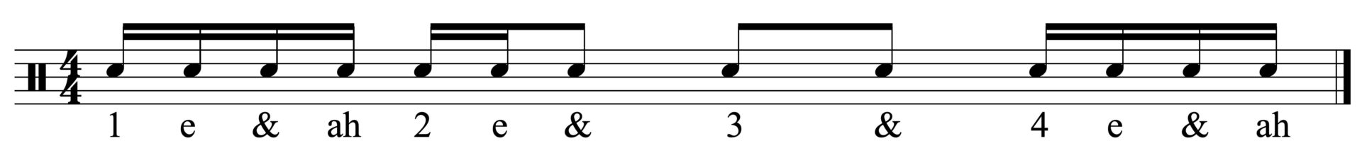 The basic rhythm for the fill