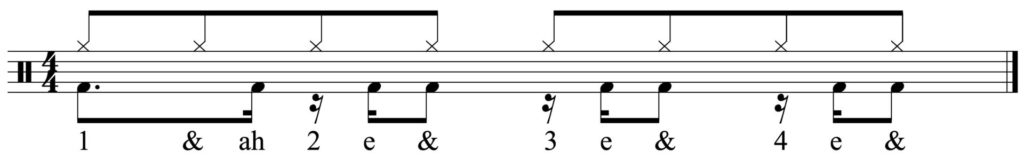 Funky bass drum pattern.