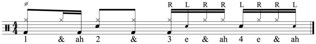 Adding the paradiddle lick