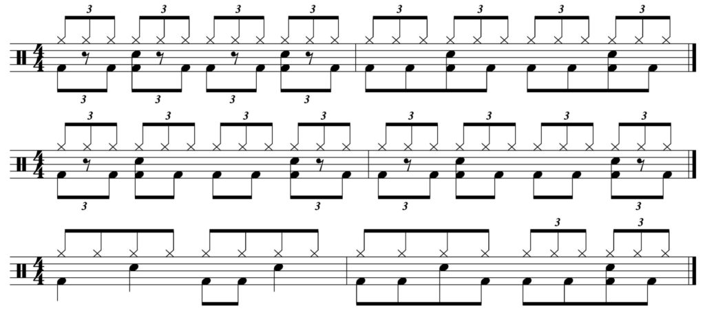 3 groove variations