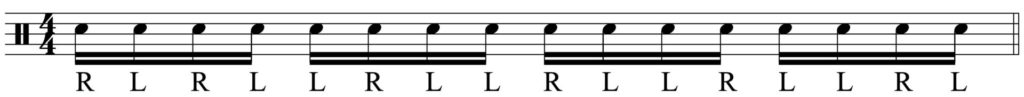 The basic sticking pattern