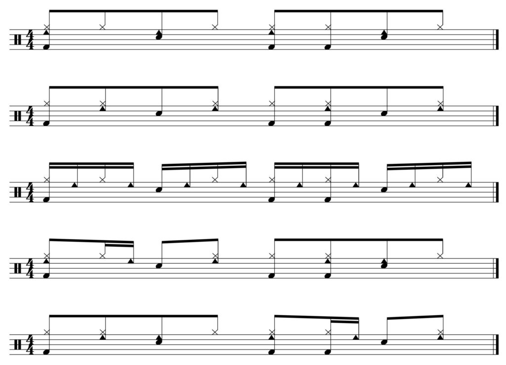 5 groove variations