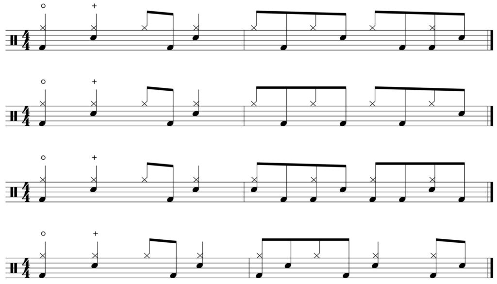 groove fill variations