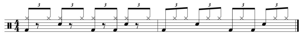 The full two bar pattern
