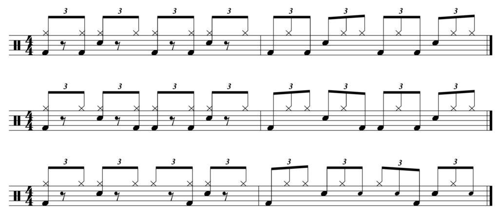 3 layered/linear shuffles