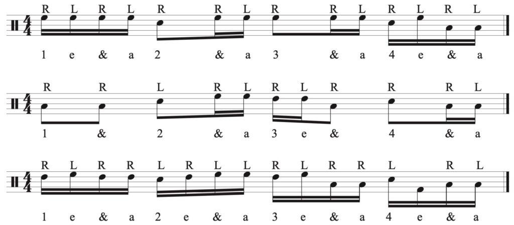 optional back beat fills