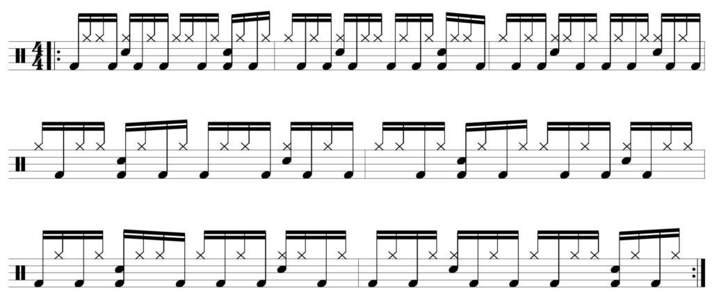 7 bar pattern