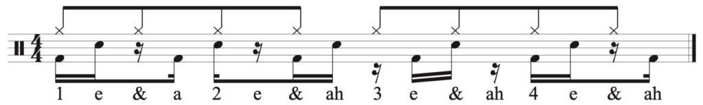 add the 8th note hi-hat.