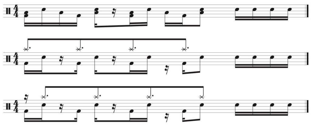 3 variations of the fill.